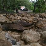 INFRASTRUKTUR BANTUL : Jalan Rusak Berat, Gua Cerme Sepi Pengunjung
