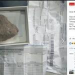 Beli ponsel online dapat kardus berisi batu. (Istimewa/Facebook)