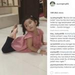 Capture video Bilqis menari balet (Instagram @ayutingting92)