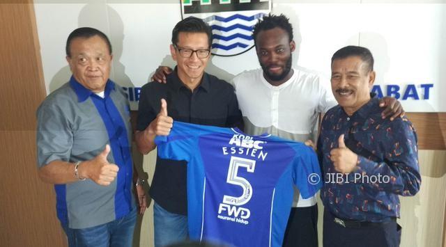 Michael Essien bergabung dengan Persib Bandung (Liputan6.com)