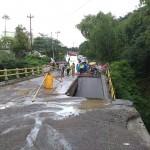 BENCANA BOYOLALI : Patah, Jembatan Grawah Cepogo Ambrol Sebagian