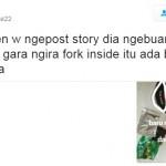 Kicauan netizen cerita temannya yang gagal menyantap mi instan (Twitter @greme22)