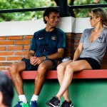 Luis Milla dan Istrinya, Maria Luisa. (Twitter)
