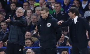 Jose Mourinho dan Antonio Conte (JIBI/Reuters/Eddie Keogh)