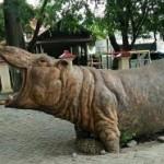 Patung kuda nil di Taman Sompok, Jl. Sompok, Kecamatan Semarang Selatan, Kota Semarang, Jateng. (Facebook.com-Ubaid Zabir)
