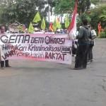 DEMO PETANI : Solidarer, Petani Surokonto Susah Payah ke Semarang