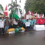 DEMO SUKOHARJO : Unjuk Rasa Mahasiswa Menolak Pabrik Semen Kendeng Ricuh