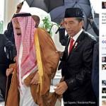 TRENDING SOSMED : Jokowi Basah Kuyup Saat Mengiringi Raja Salman di Istana Bogor