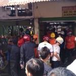 KEBAKARAN KARANGANYAR : Api Menghanguskan 4 Kios di Timur Terminal Karangpandan