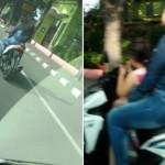 LALU LINTAS SEMARANG : Bawa Anak dan Tak Pakai Helm, Wanita Pengendara Motor Jadi Gunjingan