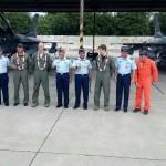 Penerbang USAF Antarkan 2 Pesawat F-16 ke Lanud Iswahjudi Magetan