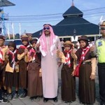 SIMPATIK CANDI 2017 : Wah, Tiruan Raja Salman Menyapa Pramuka Demak