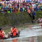 FOTO WISATA SEMARANG : Desa Bejalen Lombakan Perahu Tradisional