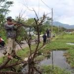 PERTANIAN KLATEN : Sawah Tergenang Air, Para Penembak Ikan Beraksi