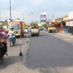 INFRASTRUKTUR KLATEN : Persiapan Sambut Arus Mudik Lebaran, Jalan Solo-Jogja Mulai Diperbaiki