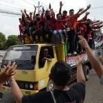 KOMPETISI LIGA 2 : Dukung Persis Lawan Sragen United, Pasoepati Disambut Laskar Sukowati