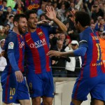 LIGA SPANYOL : Trio MSN Barcelona Kejar 100 Gol