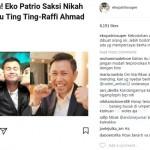 Dituding Jadi Saksi Nikah Raffi Ahmad dan Ayu Ting Ting, Eko Patrio Naik Darah