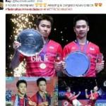 Juara Malaysia Open 2017, Netizen Suarakan Terima Kasih Kevin-Gideon