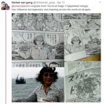 Komik Jepang yang menceritakan sosok Susi Pudjiastuti (Twitter @Vicihansan_gung)