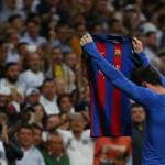 Lionel Messi merayakan gol. (JIBI/Reuters/Stringer)
