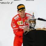 FORMULA ONE 2017 : Menangi GP Bahrain, Vettel Sanjung Mobil Ferrari