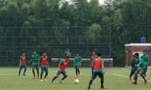Timnas Indonesia U-22 melakukan latihan (JIBI/Solopos/Antara)