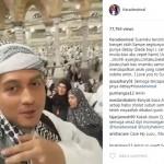 INSTAGRAM ARTIS : Umrah, Lucky Hakim Doakan Istri Segera Hamil