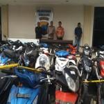 PENCURIAN SEMARANG : Polisi Amankan 33 Motor Hasil Curanmor