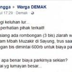 WISATA DEMAK : Parkir di Makam Syekh Mudzakir Rp200.000?