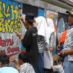 Sekolah Sediakan Tembok untuk Aksi Mural Siswa