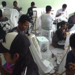 FOTO NARKOBA SEMARANG : Klien Rehabilitasi BNN Jateng Membatik