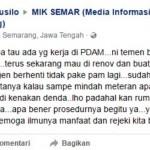 INFRASTUKTUR SEMARANG : Ingin Pindah Meteran PDAM Karena Rumah Direnovasi Kok Didenda?