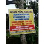 Poster yang terdapat di Dusun Blanten, Desa Nyatnyono, Kecamatan Ungaran Barat, Kabupaten Semarang, Jateng. (Facebook.com-Bang Catur)