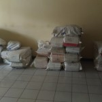 Tumpukan karung berisi dokumen kegiatan bankeu 2013-2014 teronggok di Gedung C Setda Karanganyar, Senin (8/5/2017). (Kurniawan/JIBI/Solopos)