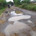 INFRASTRUKTUR SRAGEN : Jelang Lebaran, Jalan Lingkar Gemolong Rusak Parah di Kwangen