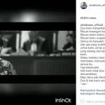 INSTAGRAM ARTIS : Ahok Divonis 2 Tahun, Ari Wibowo Tulis Pesan Mengharukan