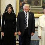 Ivanka Trump, Melania Trump, Donald Trump, dan paus Fransiskus (Twitter @ahmed)