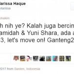 """Ledek Pendukung Ahok, Marissa Haque """"Twitwar""""dengan Chico Hakim dan Joko Anwar"""