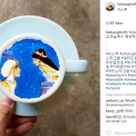 Latte art aladin karya Lee Kang Bin (Instagram @leekangbin91)