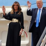 Melania dan Donald Trump saat tiba di Arab Saudi (Dailymail.co.uk)