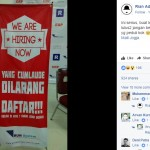 Pengumuman unik lowongan pekerjaan (Facebook Rian Adi Wibowo)