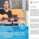 Pria Bule yang membuat lagu Agama Uang. (Istimewa/Instagram/@neng_jepret)