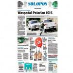 SOLOPOS HARI INI : PENANGGULANGAN TERORISME: Waspadai Pelarian ISIS