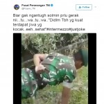 Anggota TNI Push Up tanpa tangan bikin warganet melongo (Twitter @Puspe_TNI)