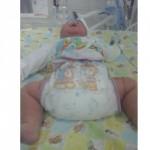 Bayi Arsyila Romeesa Cinta Farzana asal Klaten yang lahir dengan berat badan 5 kg. (Istimewa/Ninik Suryani)