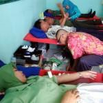 HUT POLISI MILITER : Puluhan Warga Sumbangkan Darah di Makodim Sragen