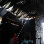 Pabrik Kayu Triplek di Jalan Solo-Purwodadi Ludes Terbakar