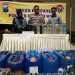 Polisi Tangkap 45 Pengedar Miras di Kota Madiun Jelang Ramadan