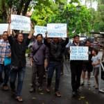 Warga Balirejo Demo di Kantor Satpol PP, Tolak Pembangunan Apartemen